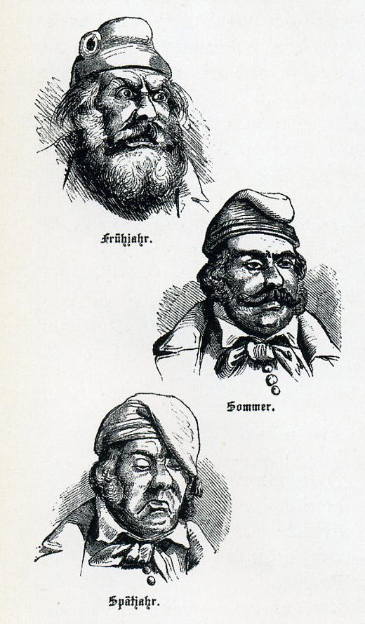 Michel und seine Kappe im Jahre 48